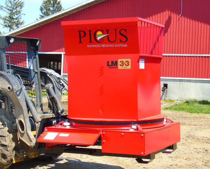 Picus LM 3x3 Loader Mount Skidsteer Strawchopper